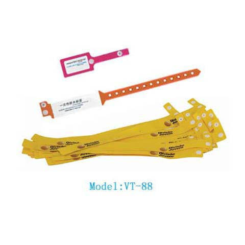 VT-88 Disposable Wristband tag